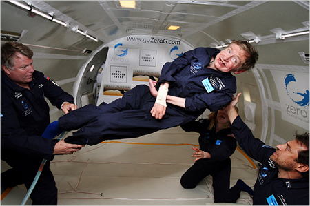 Steven Hawking Weightless